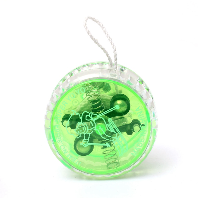 yoyo professional children yoyo toys string magic yoyo toy bearing mini LED Light Up kids yo yo yo-yo toys plastic green diabolo