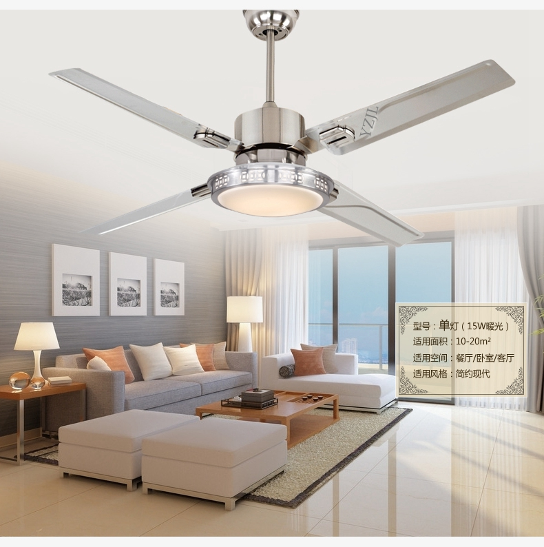 48inch remote control Ceiling fan lights LED bedroom ...