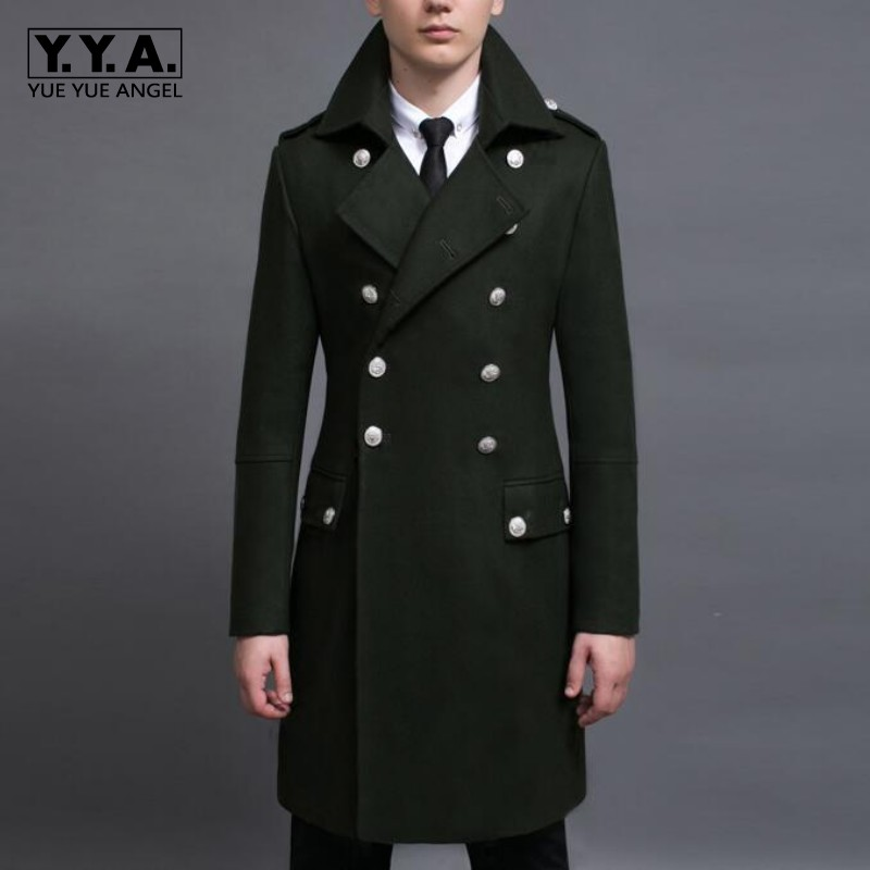 Popular Mens Double Breasted Military Coat-Buy Cheap Mens Double ...