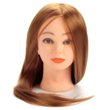 CAMMITEVER Blonde Golden Hair Hairdressing Mannequin Head Doll Heads Training Manikin Synthetic Cosmetology