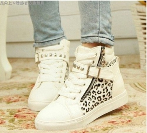 d0efa58d52cf 2014 Drop shipping women sneakers e for brand wedge female running shoes s Leisure  Natural Rubber Leopard J1368-in Fitness   Cross-training Shoes from ...