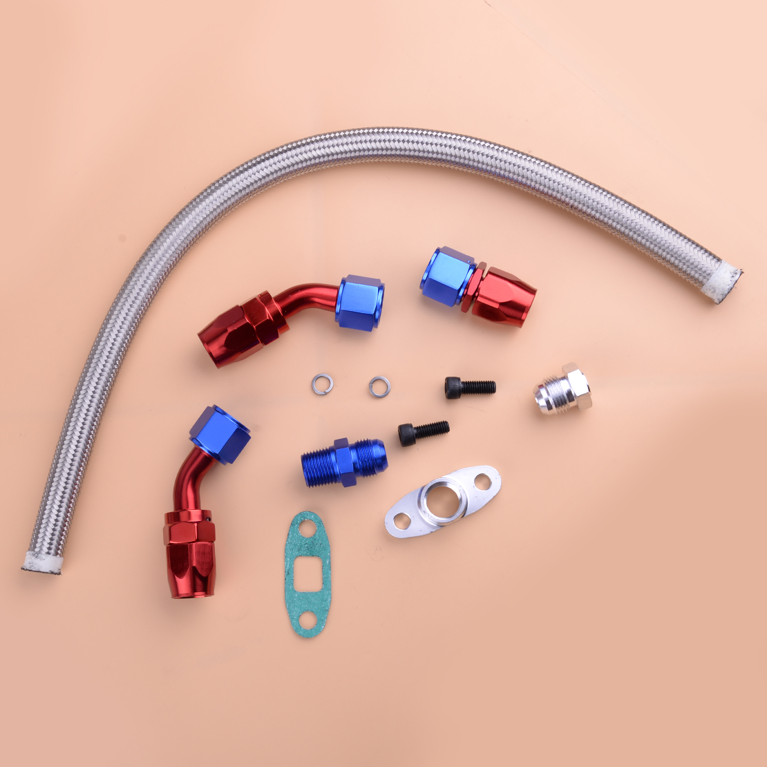 beler New Durable Oil Return Drain Line Kit for <font><b>Turbo</b></font> Charger for T3 T4 T70 <font><b>T66</b></font> TO4E Accessories image