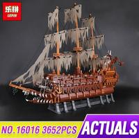 Lepin 16016 3652Pcs Movie Series Flying the Dutch Blocks Bricks Toys For Children Compatible legoing pirates caribbean