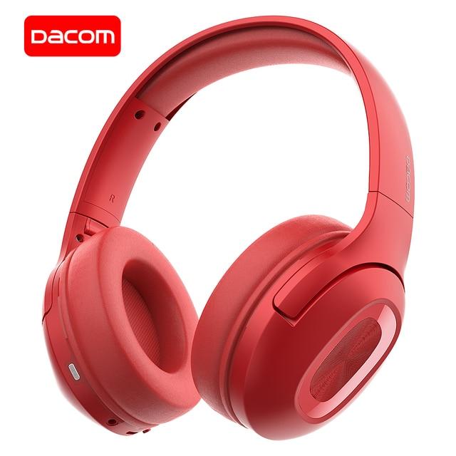 DACOM HF002 Bluetooth ชุดหูฟังไร้สายสเตอริโอหูฟังไมโครโฟนในตัว Dual Driver 4 ลำโพงสำหรับทีวี iPhone Samsung Xiaomi