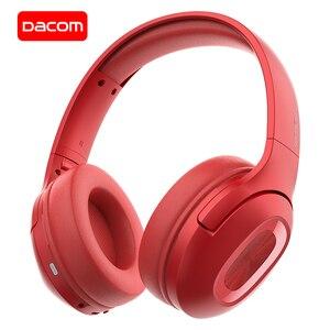 Image 1 - DACOM HF002 auriculares Bluetooth con cable auriculares estéreo inalámbricos micrófono incorporado controlador Dual 4 altavoces para TV iPhone Samsung Xiaomi