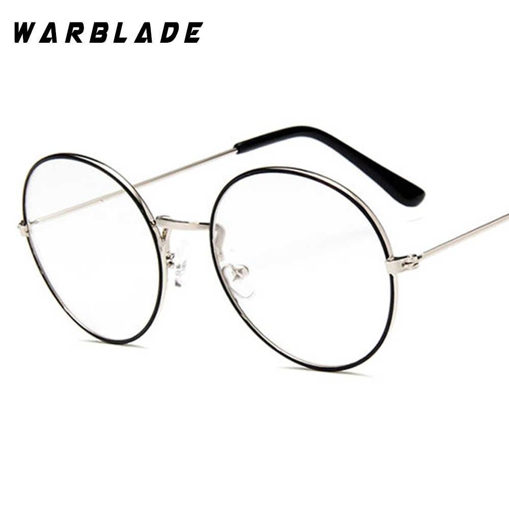 ec61d71970 2018 Fashion Glasses Frame Men Women Retro Vintage Decorative Frames Clear  Lenses Round Glass Frame de