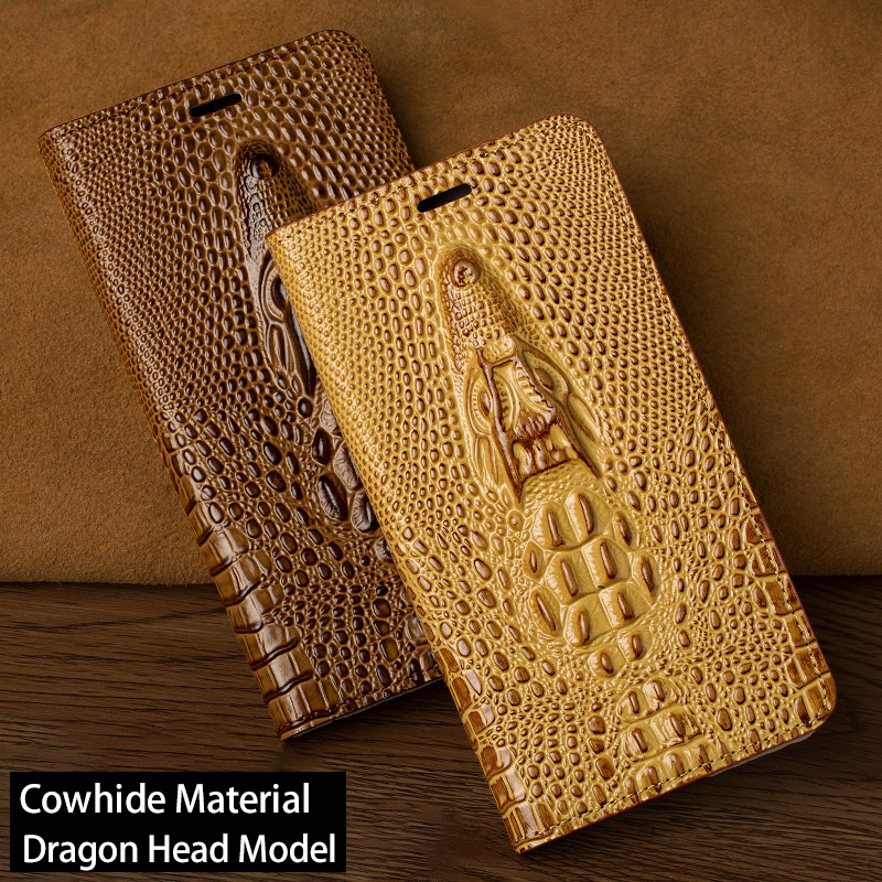 Luxury Dragon head Flip Phone Case For Nokia 5 6 8 6.1 7 Plus Case leather Cover For Lumia 930 950 1520 Case