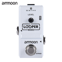Ammoon AP 09 Nano Series Loop Electric Guitar Effect Pedal Looper True Bypass Unlimited Overdubs 10