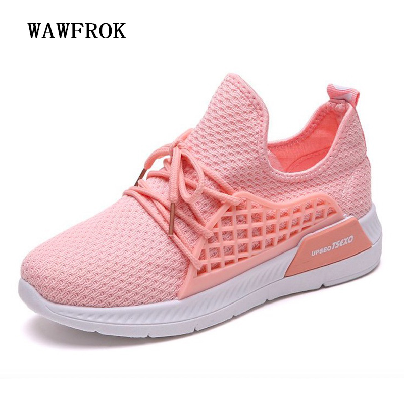 Women Casual Shoes 2018 Spring Summer Mesh Shoes Woman Flats Fashion Sweet Breathable Women Sneakers