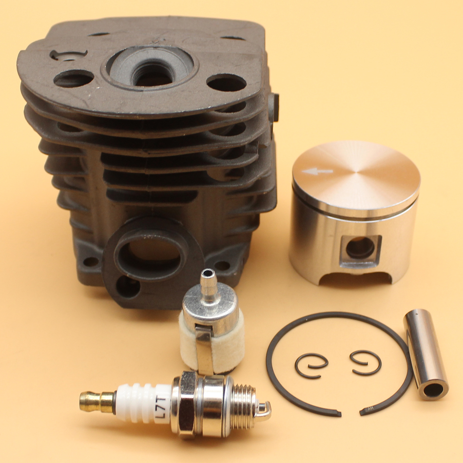 BIG BORE 46MM Cylinder Piston Ping Ring Filter Spark Plug Kit For HUSQVARNA 55 51 Chainsaw 503169171 56mm big bore cylinder piston for husqvarna chainsaw 395 395xp 395epa engine 503993971 savior brand new top sale in usa uk