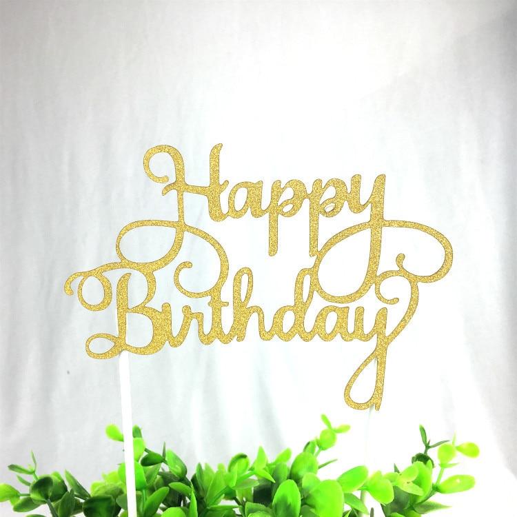 1 дана креативті торт топпер Туған - Мерекелік және кешкі заттар - фото 5