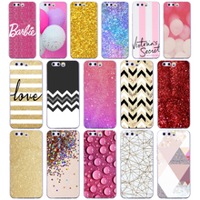 aa8d10e9dbc 66G Pink yellow gold glitter Case For Huawei P10 Case Cover Pattern Soft  Silicone for huawei