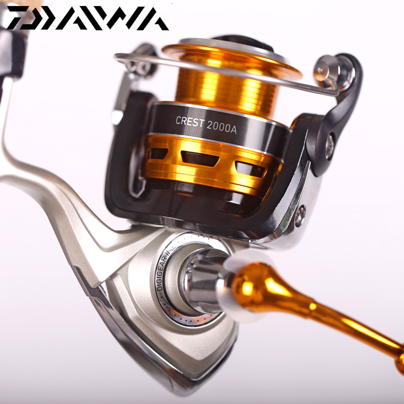 100% Originale Daiwa 2018 New CREST 2000A 3000A 2500A 4000A Spinning Reel Fishing 5.3: 1 3 + 1BB Anteriore trascinare Carp Fishing reel
