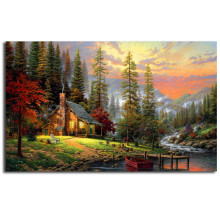 Bob Ross Paintings Landscapes Art Canvas Poster Painting Wall Picture Print Home Bedroom Decoration Oil No Frame