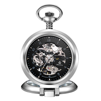 Luxury Steampunk Hollow Skeleton Mechanical Pocket Watch Digital Vintage Chain Pendant Clock Watch Men Women Gifts