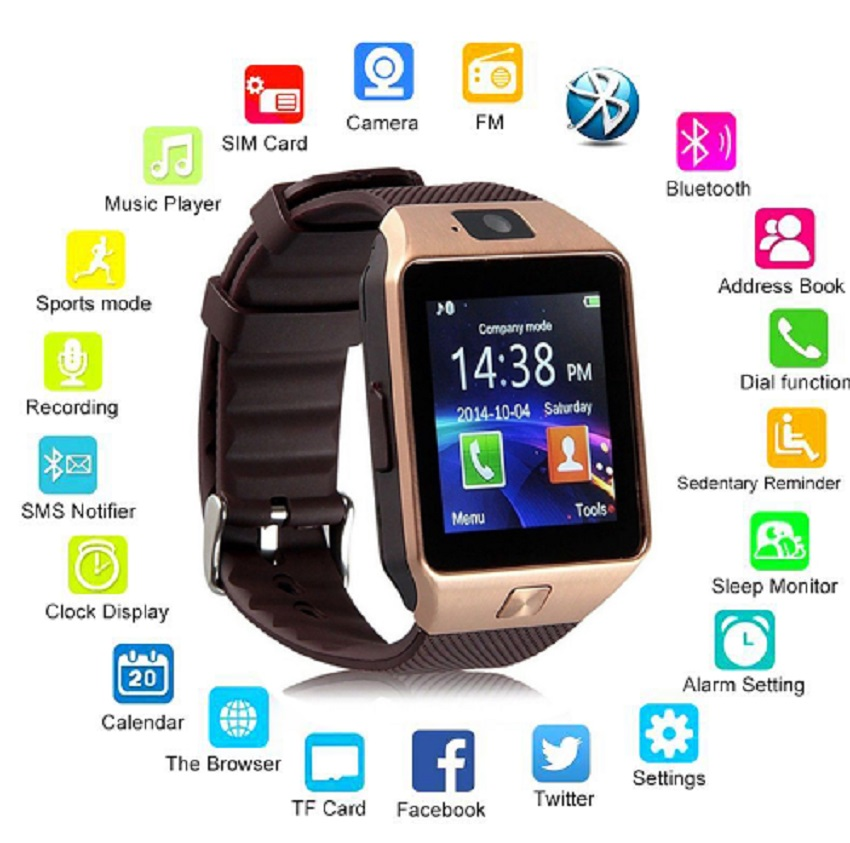 Smart Watch Digital Sport Phone Wrist Watch For Apple iPhone And Android unisex.
