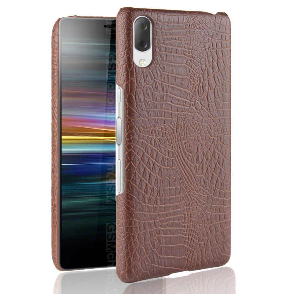 Funda trasera dura de cuero de serpiente de cocodrilo de lujo para Sony Xperia L3 L2 10 Plus XZ4 XZ3 XZ2 XZ1 XA3 XA2 funda Ultra para teléfono XA1
