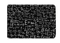 Memory Home Einstein Physics Formula Science Geek Black White Floor Entryways Outdoor Indoor Front Entrance Doormat