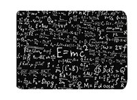 Memoria Casa Einstein Formula Fisica Scienza Geek Ingressi Pavimento Nero Bianco Esterno Interno Anteriore D'ingresso Zerbino 40x60 cm