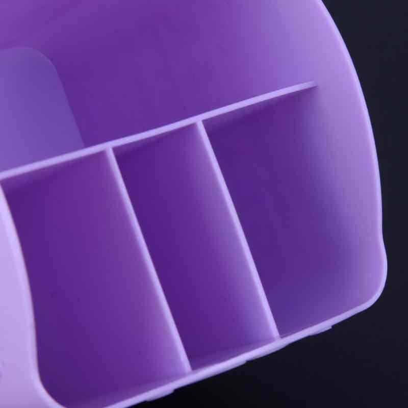 4 المقصورات البلاستيك مسمار أدوات مربع تخزين الحاويات فرشاة للمكياج مسمار أداة فنية مجموعة صندوق تخزين لون عشوائي