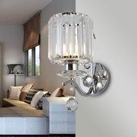 Современные светодиодные бра современные настенные светильники блеск Iluminacion интерьер спальни e27 кристалл лампы Гарантировано 100% Бесплатна