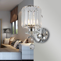 Modern Led Wall Sconce Modern Wall Lights Lustre Iluminacion Interior Bedroom E27 Crystal Lamp Guaranteed 100