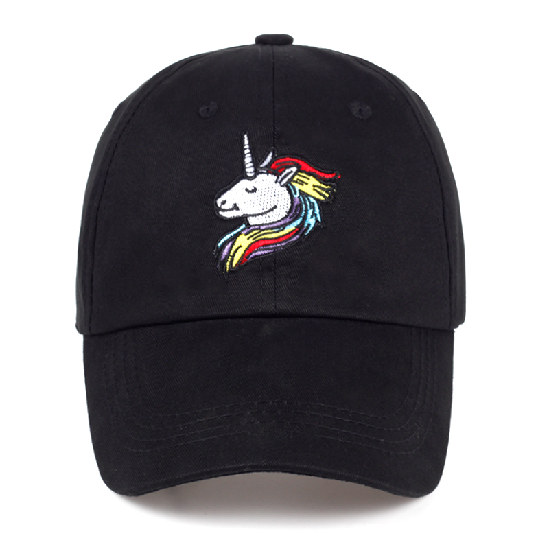 2017 New Arrival unicorn Embroidery Baseball Cap women women Snapback Hat Lady Dad Hats outdoor hats wholesale drop shipping free shipping wholesale 2012 new arrival hat men knitted beanie hats women fashion skullies