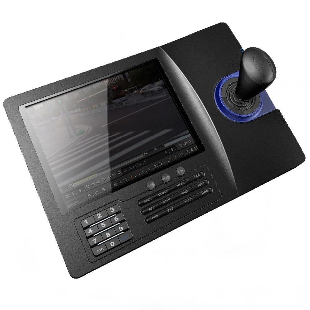 8 pouces LCD analogique RS485 PTZ clavier contrôleur PELCO-D/PLCD affichage de la vitesse analogique dôme panoramique inclinaison caméra CCTV contrôle