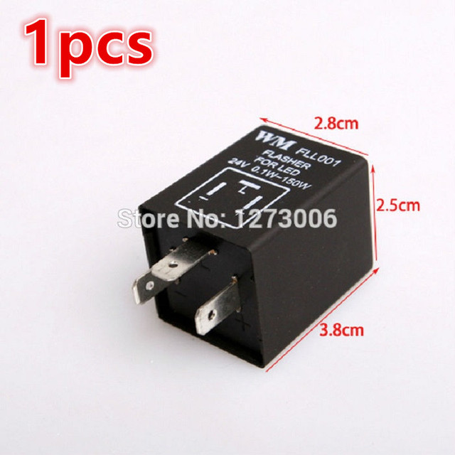 1pcs Electronic Flasher Blinker Relay For Car Motorcycle Trucks