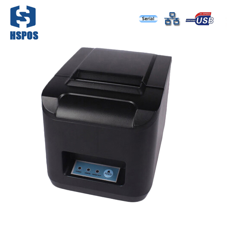 Pos 80 printer thermal driver USB and serial interface impressora hotel bill receipt printing machine support wired printing serial port best price 80mm desktop direct thermal printer for bill ticket receipt ocpp 802