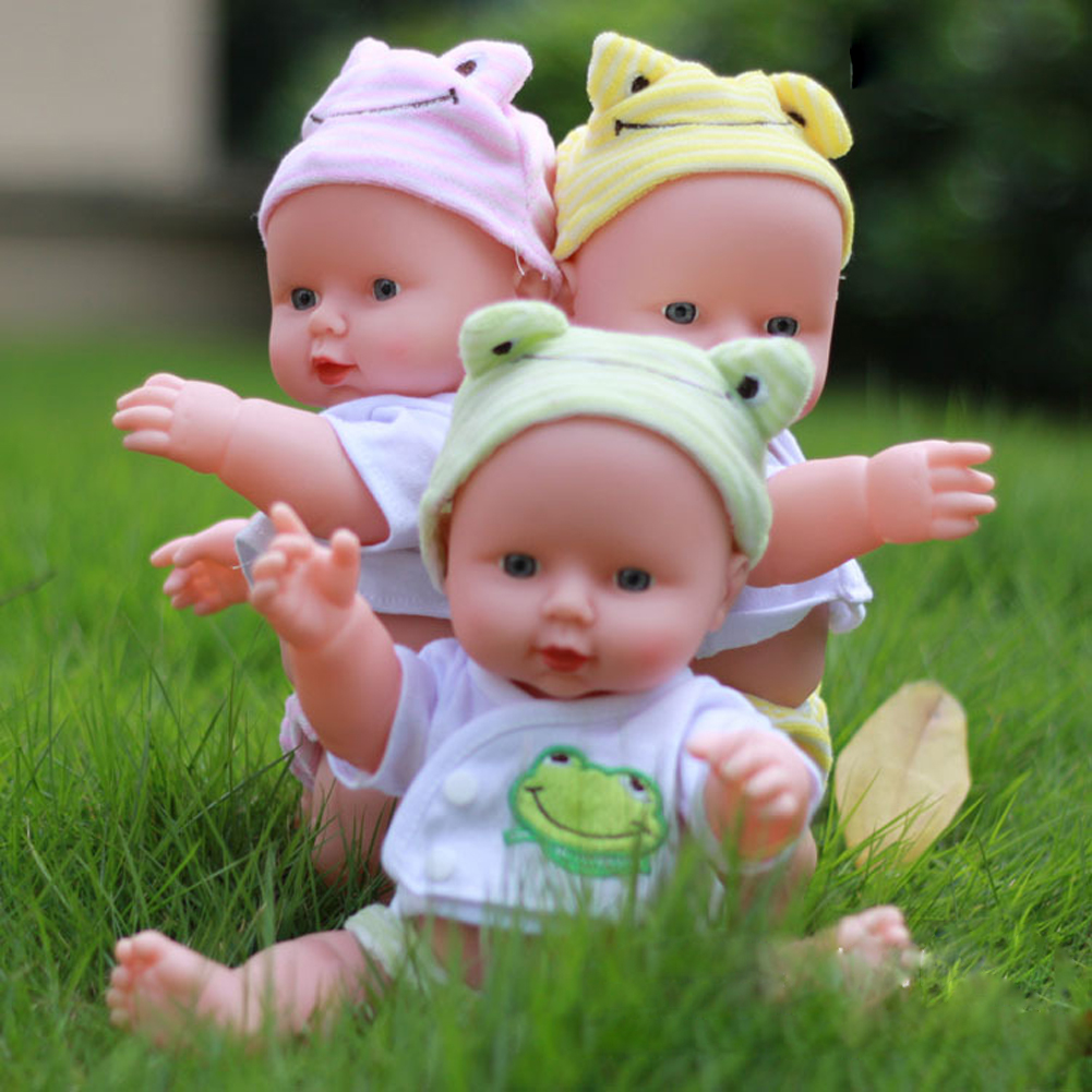 12inches Silicone Reborn Baby Doll Soft Newborn New Year Christmas Girl Gift Toys for Children Ranbow