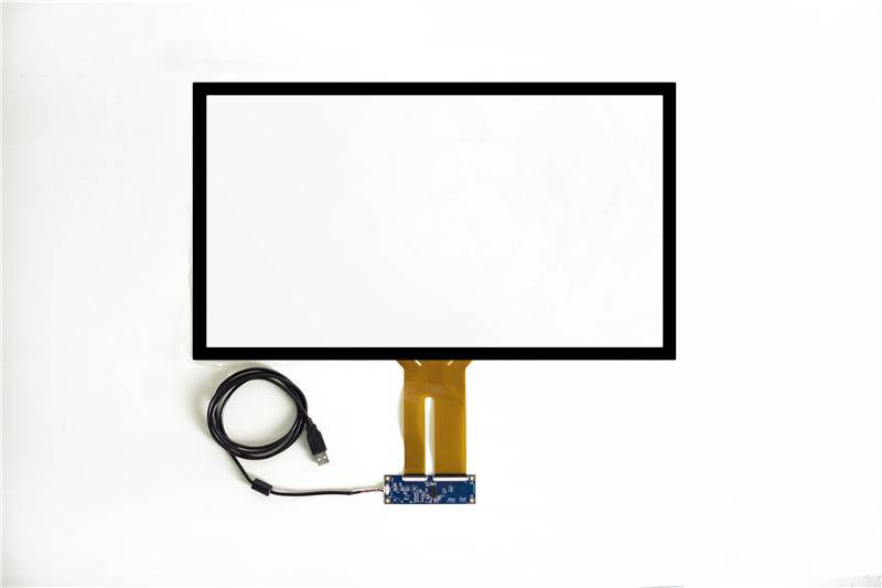 Free Driver USB 55 Projected capacitive touch screen overlay kit / multi 10 points PCAP touch panel for touch monitor