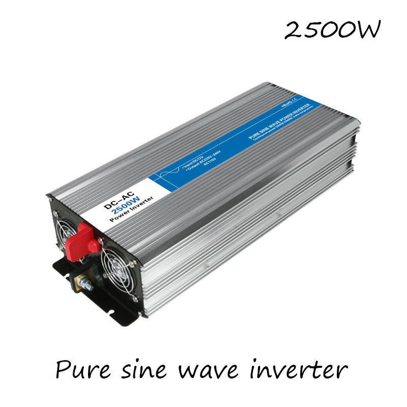 DC AC 2500W Pure Sine Wave Inverter 12V To 220V Converters Voltage Off Grid Electric Power Supply LED Digital Display USB China