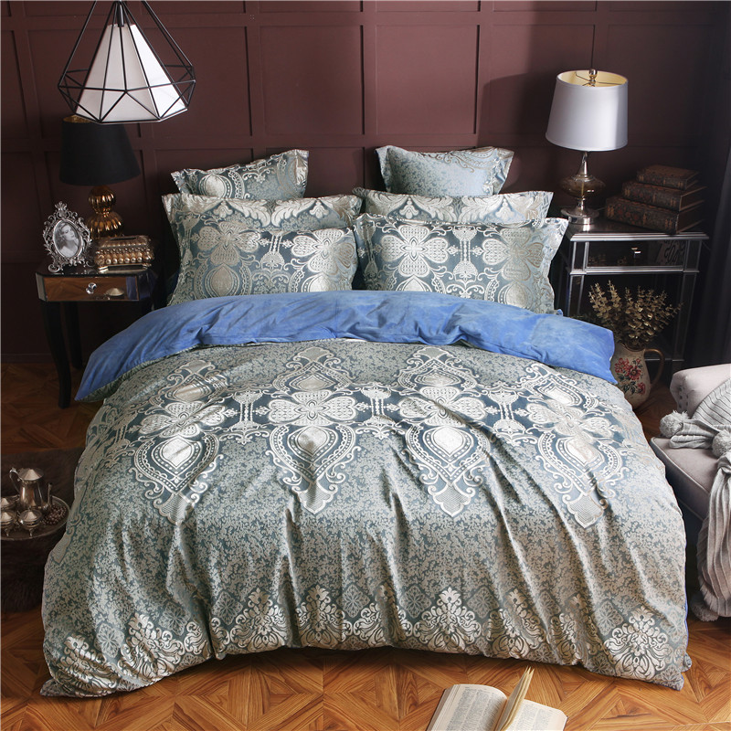 Fleece fabric jacquard luxury bedding sets queen king size duvet cover bed sheet set winter warm bed set bed linenFleece fabric jacquard luxury bedding sets queen king size duvet cover bed sheet set winter warm bed set bed linen