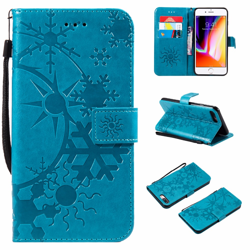 LANCASE Flip Cover For <font><b>iPhone</b></font> <font><b>8</b></font> <font><b>Case</b></font> <font><b>Leather</b></font> Star Sky Sun <font><b>Logo</b></font> Card Slot Wallet For <font><b>iPhone</b></font> <font><b>8</b></font> plus 7 6S 6 Plus X TPU <font><b>Case</b></font> Stand image