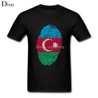 Azerbaijan Flag Fingerprint T Shirt Men Tailored Short Sleeve Thanksgiving Day Custom 3XL Family Tshirts