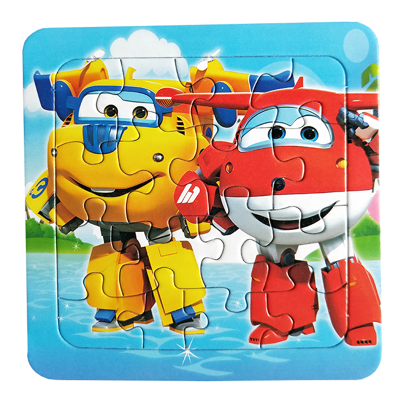 Image 2 - Puzzles Famous Cartoon Super Wings Educational Toy for Children for Baby 16 PCS Puzzle Game Free Shipping Kid Toys-in Puzzles from Toys & Hobbies