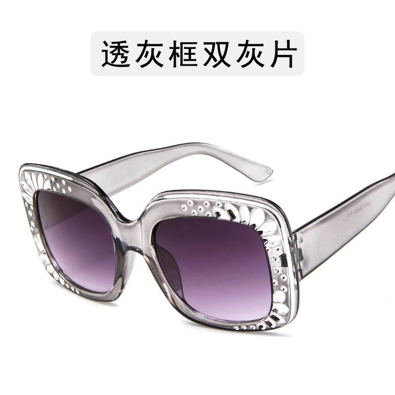 Square Luxury Sunglasses Women 2019 Flower Decoration Oversize Cat Brand Sun Eye Glasses Shade for Women Vintage Glasses Retro in Women 39 s Sunglasses from Apparel Accessories
