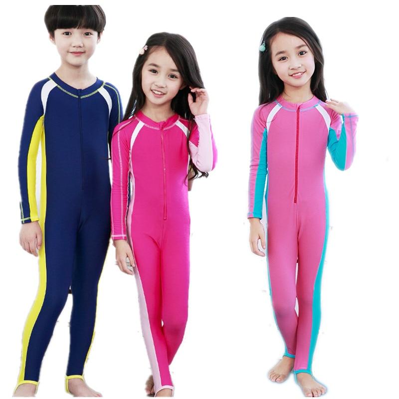 911d45c581 Children Long Sleeve Swimear One Piece Swimsuit Boy Girl Diving Suit Kid  Swimsuits Beachwear Swimming Suit Kids Wetsuit Bodysuit-in Body Suits from  Sports ...