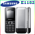 E1182 Original Unlocked Dual Sim Cards Samsung E1182 phone GSM900/1800MHz cellphone with One year warranty free shipping