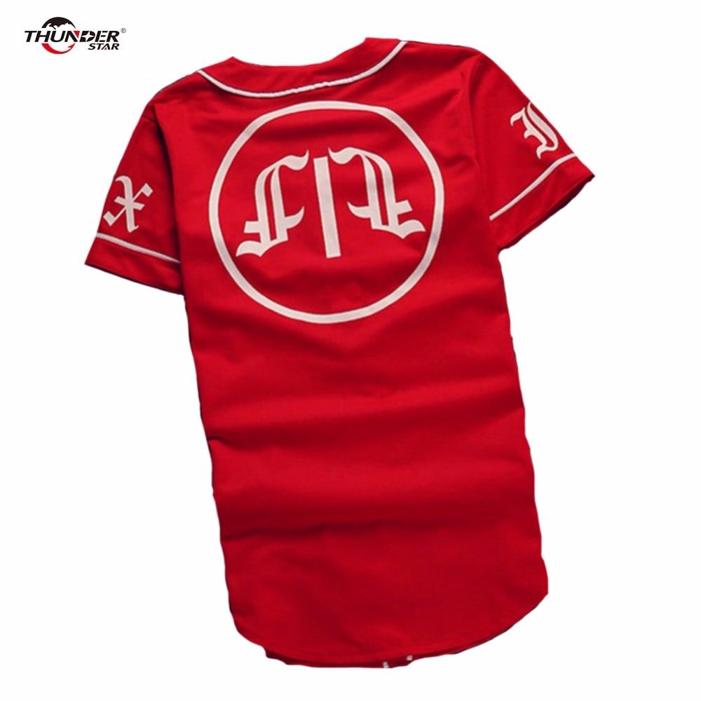 Été Mens Vintage T shirts 2018 Streetwear Hip Hop baseball jersey - Vêtements pour hommes - Photo 4