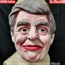 2016 New Hot Sale Design Famous Celebrity Funny Mask Props Donald Trump Full Face Latex Masks in stock Free Shipping