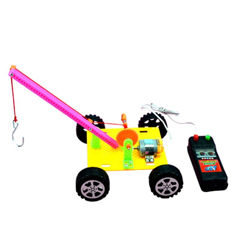 Science Toys DIY Remote Control Crane Model Kit Student Physical Science Toy Set Experiment Teaching Boy Creative Toy Gift