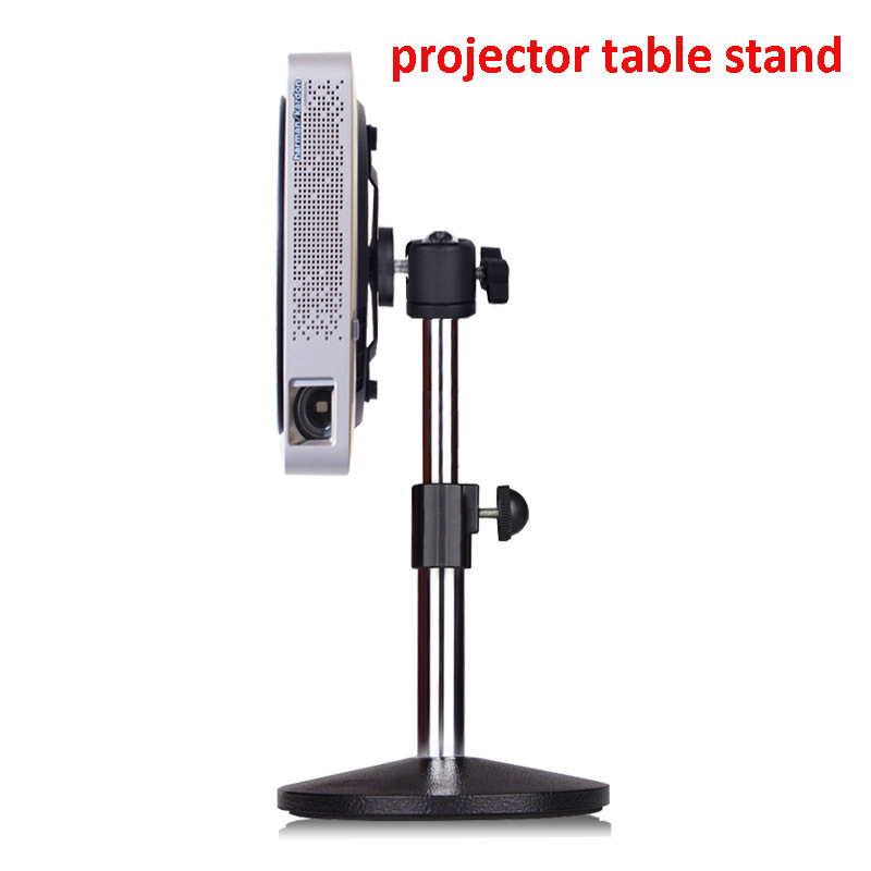 Height adjustable aluminum small mini projector desk mount table bracket holder stand