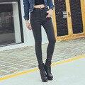 New Arrival Wholesale Woman Denim Pencil Pants Top Brand Stretch Jeans High Waist Pants Women High Waist Jeans Plus Size