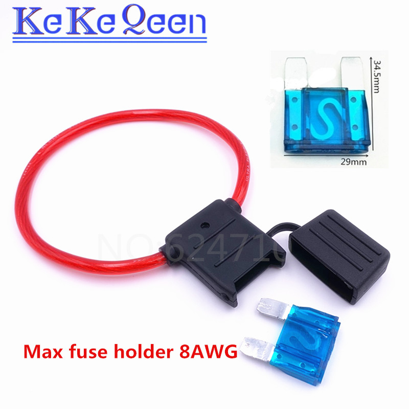 5Pcs Medium Blade Fuse Holder ATC ATO Waterproof 12AWG In-Line Wire For Car E2