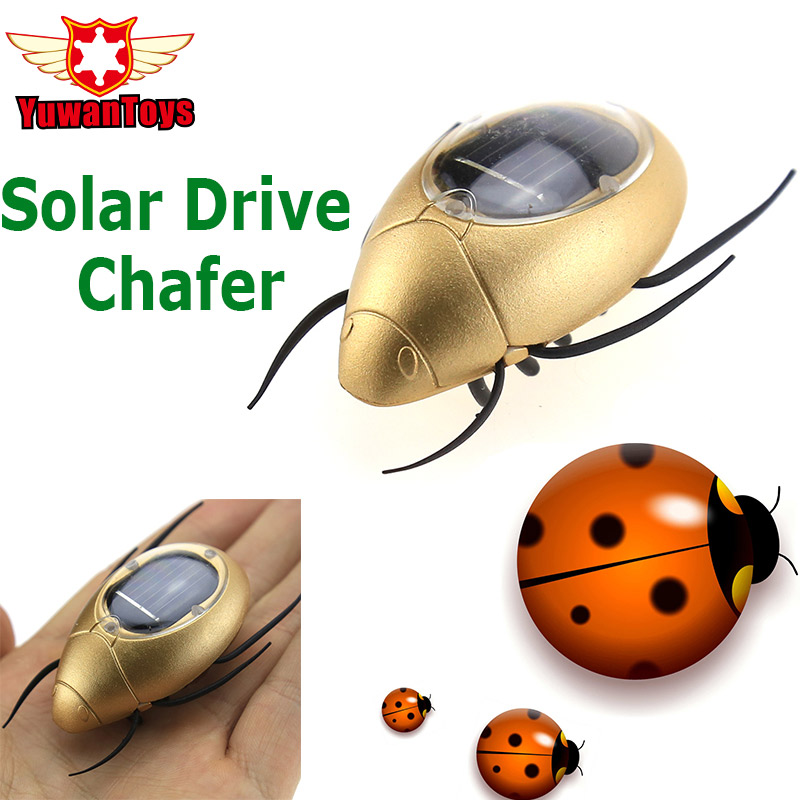 Hot Solar Chafer Spider Ant Cockroach Solar Power Energy Insect Novelty Funny Toys Mini Green Robots Novelty Science Education