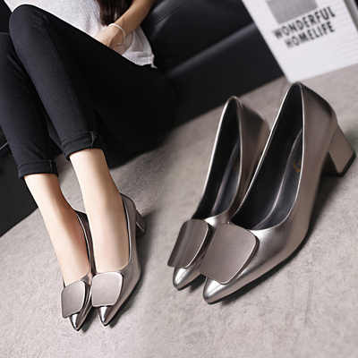 Neue Koreanische mode vielseitig spitz flach mund nicht-slip high heels trend sexy komfortable high heels