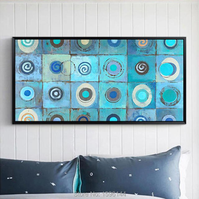 Hand Painted Abstract Oil Painting Canvas Modern Art Painting Sky