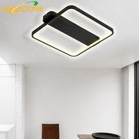 LED Ceiling Lamp Modern Plafonnier Light Black White Square Lighting Luminaire Living Room Bedroom Kitchen Lamparas